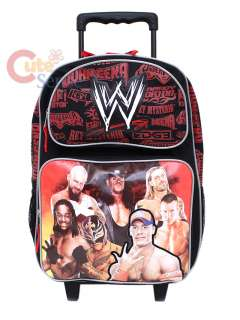 WWE Wrestling School Rolling Backpack /Roller Bag 16 L