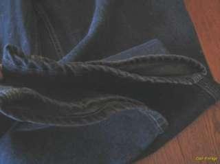 44 x 30 Faded Glory Black Cotton stonewashed Relaxed Denim Carpenter