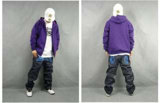 Mens Hip Hop Casual Fit Zip Sweater Hoody Jacket Coat