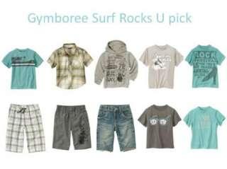 NWT GYMBOREE BOYS SURF ROCKS U PICK PLAID SHORTS SHIRT TOP HOODIE
