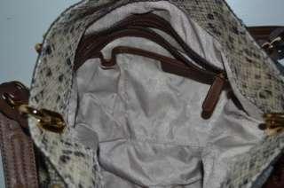 Authentic Michael Kors Lily Satchel Python Leather