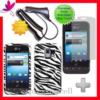 + ZEBRA Hard Case Cover for Straight Talk NET 10 LG OPTIMUS Q