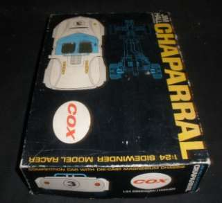Chaparral with box 1/24 scale slot car Fixer upper project car