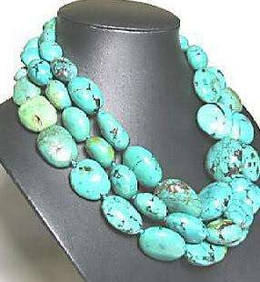 13x18MM Turkey Turquoise Beads Necklace 50