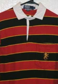 Mens Polo Ralph Lauren LION Rugby L/S Rugby Shirt Sz M Medium