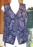 WOMENS JUNIORS SZ 12 SHIRT VEST BY NORTON MCNAUGHTON