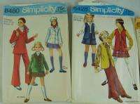 Vintage 1970s Simplicity Womens Ladies Girls Dress Patterns Retro