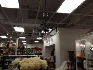 Pottery Barn~AUDRINA CHANDELIER~CRAFTED OF IRON WITH A RUSTIC BRONZE