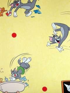 Lustige Kinderzimmer Tapete mit Tom & Jerry Motiven aus der KidsClub