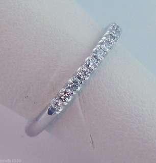 3CT DIAMOND WEDDING BAND 14K WHITE GOLD MICRO PAVE