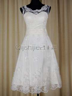 short sexy lace high neck white wedding dress/gown