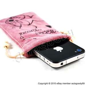 Pink Disney Mickey Mouse Pouch Case Bag  iPod Touch