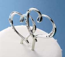 DOUBLE HEART WEDDING CAKE JEWEL PICK ANNIVERSARY SHOWER