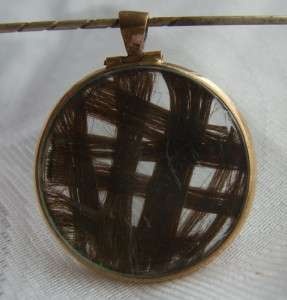 VICTORIAN ROSE GOLD FILLED HAIR WEAVE DOUBLE SIDED FOB LOCKET MOURNING