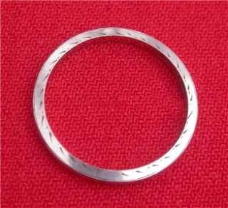 Estate BELAIS 18k White Gold Art Deco Wedding Band Ring Sz 6.5