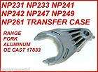 np261 np249 np247 transfer case aluminum range fork new fits jeep