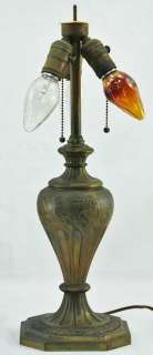 Signed Reverse Painted Classical Landscape PAIRPOINT Table Lamp