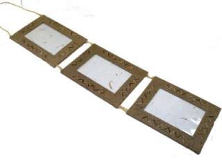 Triple Recycled Paper Photo   Wall Hanging Picture Frames