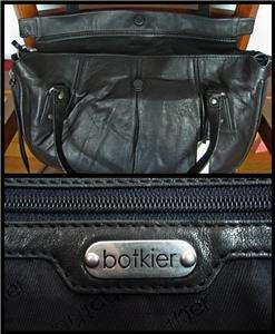 BOTKIER Sophia Large Black Lambskin leather satchel crossbody bag nwt