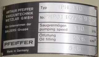 Pfeiffer Balzers TPH 110 Turbo Molecular Vacuum Pump