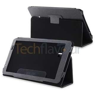 Premium For Archos Arnova 10 G2 Black Skin Leather Case Cover Stand
