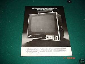 1970 Sony Solid State Television Marry the TV Ad Cute