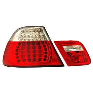 Anzo USA 321185 BMW LED Red/Clear Tail Light Assembly; 4 pc   (Sold in