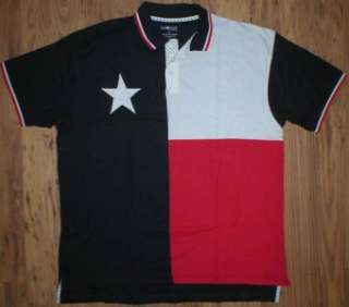 Texas Flag NEW Mens Polo Shirt Red White Blue Stars