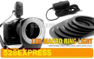 Macro Ring Flash LED Light for 52MM/58MM/55MM/​62MM/67M