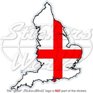 ENGLAND St George Cross Map Flag UK Vinyl Sticker Decal