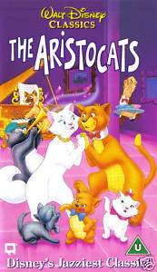 THE ARISTOCATS (Walt Disney Animated Classics PAL VHS Video)
