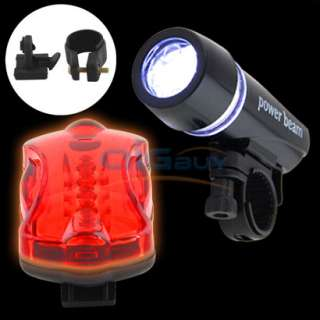 Bike Cycle Bicycle 5 Led Front & Rear Safety Light Set Flash Modes