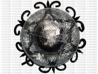 Plafoniera Ferro Battuto Nero : Grande candelabro candeliere ferro battuto 700 la 80