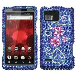 Juicy Flowers Crystal Diamond BLING Hard Case Phone Cover Motorola