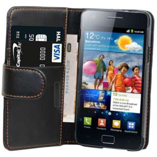 Magic Store   BLACK WALLET LEATHER CASE FOR SAMSUNG GALAXY S2 i9100