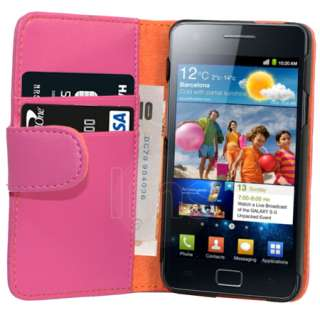 London Magic Store   H PINK WALLET LEATHER CASE FOR SAMSUNG GALAXY S2