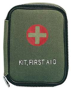 Drab Military/Camping/Hiking Zippered First Aid Pouch   Pouch Only
