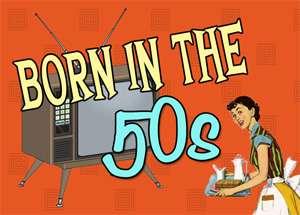 BORN IN THE 50S RETRO SWEETS MINI BIRTHDAY GIFT BOX