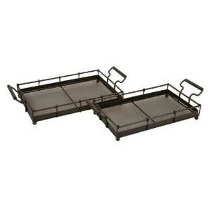 IMAX Set Of Two Contemporary Trays In Graduating Sizes: