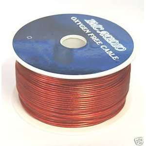 500 Ft Feet 18 Gauge RED Remote Power Wire: Car