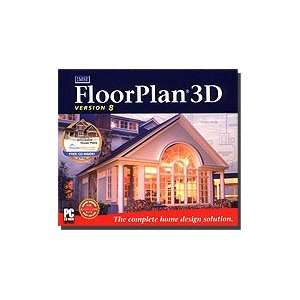 FloorPlan 3D Home Design 8.0 with House Plans CD: Software