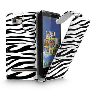 Style Leather Flip Case Cover For Motorola Motoluxe + Screen Protector
