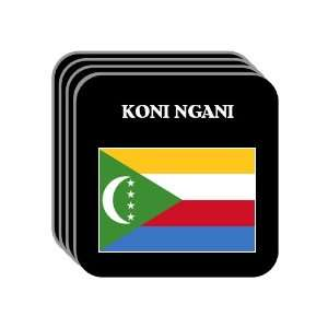 Comoros   KONI NGANI Set of 4 Mini Mousepad Coasters
