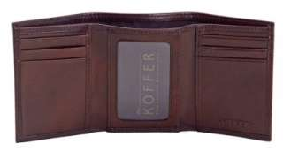 DR KOFFER ID TRI FOLD VENETIAN LEATHER WALLET 810468013692