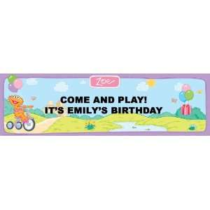 Sesame Street Zoe Personalized Birthday Banner Large 30 x 100