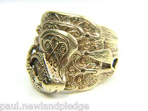 Gents 9CT Gold Saddle Ring