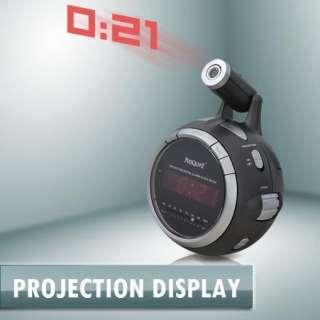DIGITAL ALARM CLOCK RADIO LCD DISPLAY PROJECTION 9V NEW