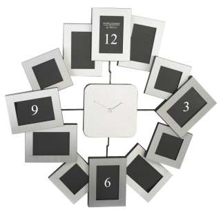 Silver Photo Frame Wall Clock   Modern Designer Clock