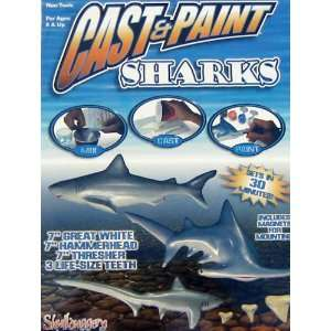 Cast and Paint Sharks Kit Toys & Games