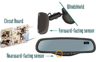AUTO DIM DIMMING REAR VIEW MIRROR VW AUDI SEAT SKODA